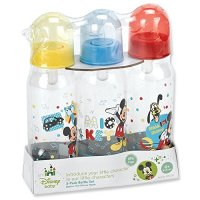 Mickey Mouse Three Pack Deluxe Bottle Set Baby Toddler