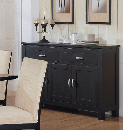 buy low price coaster contemporary style black finish. Black Bedroom Furniture Sets. Home Design Ideas