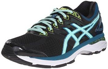 ASICS Women's GT-2000 4 Running Shoe, Black/Pool Blue/Flash Yellow, 8.5 M US