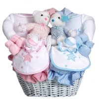 Baby Shower Gift Basket for Twin Babies - Boy and Girl ...