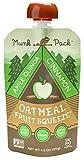 Munk Pack Oatmeal Fruit Squeeze Pouch, Apple Quinoa Cinnamon, 4.2 oz, 6 Pack