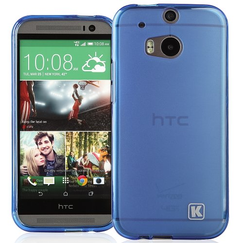 KAYSCASE HTC One Plus (HTC One+, HTC One Plus, HTC ONE 2, M8, the All New One) Soft Gel TPU Cover Case (Lifetime Warranty) (Blue)