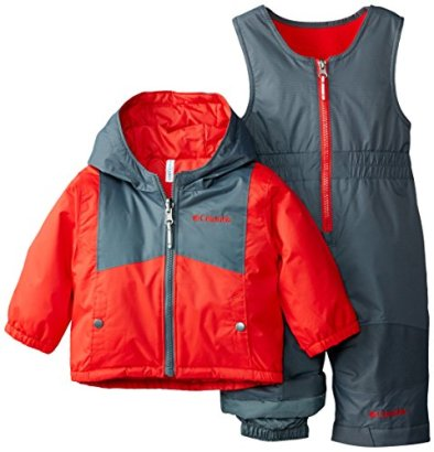 Columbia-Baby-Boys-Double-Flake-Reversible-Set-Bright-RedGraphite-18-24-Months