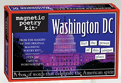 Magnetic Poetry - Washington DC Kit - Words for Refrigerator - Write Poems and Letters on the Fridge