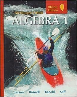Amazon Mcdougal Littell Algebra 1 Illinois Edition