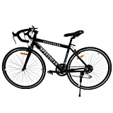 Ridgeyard 26 inch Wheels Black Shimano Racing Road Bike 54cm Aluminum 21 Speed 700C Men's Hybrid Bicycle Mountain Bike