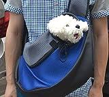 Pet Dog Cat Puppy Carrier Mesh Travel Tote Shoulder Bag Sling Backpack (Blue, S)