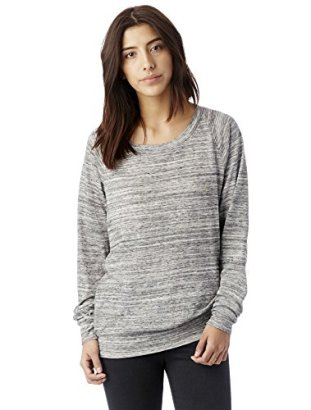 Alternative-Womens-Space-Dye-Slouchy-Pullover-Urban-Grey-Medium