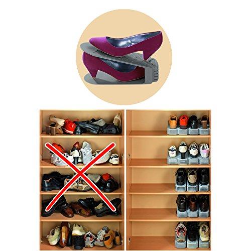 Wenko Schuhhalter 4er / 8er Set Schuhe Ordnung Schuhschrank