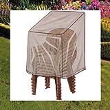 Winterfeste Schutzhülle für Gartenstühle Stapelstühle 112x74x60cm GRÜN