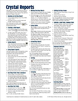 Crystal Reports (v.8 or v. 8.5) Quick Reference Guide
