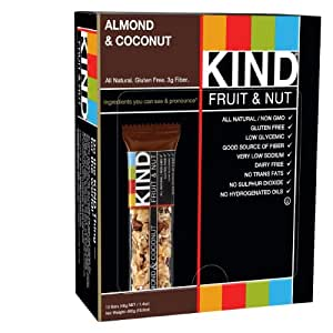 Amazoncom KIND Bars Almond amp Coconut Gluten Free 14