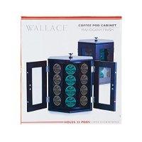 Wallace 5114376 mahogany finish Rotating Coffee Pod ...