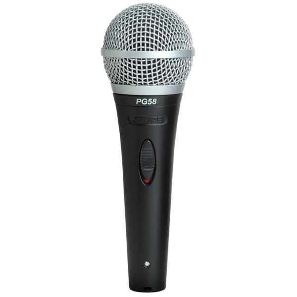 Shure Pg58-xlr Cardioid Dynamic Vocal Microphone With Xlr-xlr Cable Musical