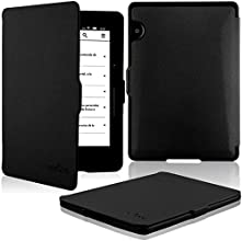 HOTCOOL Amazon Kindle Voyage Case Cover - The Thinnest And Lightest PU Leather 201n Case For 2014 Version Amazon Kindle Voyage (Will Not Fit Kindle Paperwhite)(With Smart Auto Sleep/Wake feature), Black