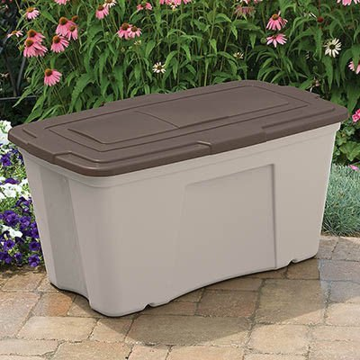 Suncast b501824 Outdoor Storage Bin (3 Pack), 50 gallon