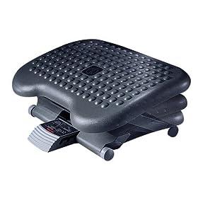 Height-Adjustable Tilting Footrest - Charcoal