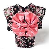 Dogloveit Japanese Kimono Style Costume Dog Clothes For Puppy Cat,Black,Medium