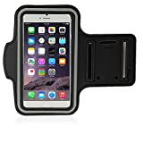 LK iPhone 6 Plus Armband - Sports Armband for iPhone 6 Plus 5.5inch Water Resistant + Sweat Proof + Key Holder (Black)