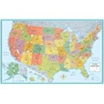 Rand Mcnally Us Wall Map (M Series U.S.A. Wall Maps) 50″x32″ for $10.17 + Shipping