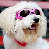 Pet Dog Sunglasses - Protective Eyewear Goggles Small Waterproof Protection (Pink)