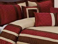 7 Piece MYA Red Bed in a Bag Comforter Sets- Queen King ...