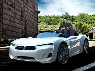 Henes-Broon-F830-with-Tablet-PC-12V-Kids-Ride-On-Car-Battery-Powered-Wheels-MP3-Remote-Control-RC-White
