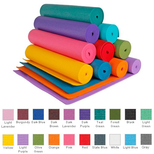 YogaAccessories (TM) 1/4'' Extra Thick High Density Mat