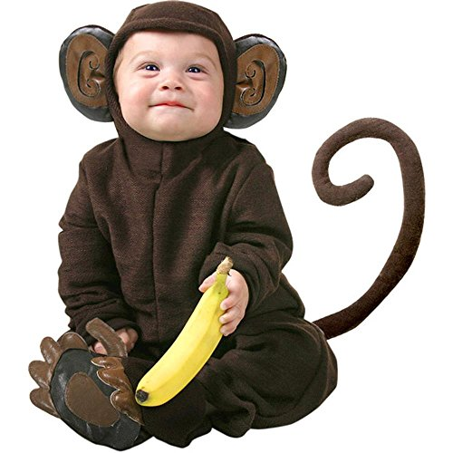 Cute Infant Baby Monkey Halloween Costume, 12-18 Months