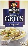 Quaker, Instant Grits, Original, 12 Count, 12oz Box (Pack of 6)