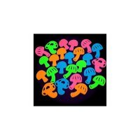 Neon Mushrooms Black Light Reactive Wall Decorations