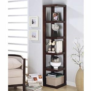Amazon Corner Bookcase Contemporary Style In