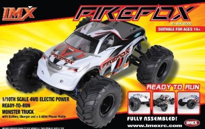 Firefox-Monster-Truck-110th-Scale-4wd-Electric-Power-with-Battery-Charger-and-24-Ghz-Phazer-Radio