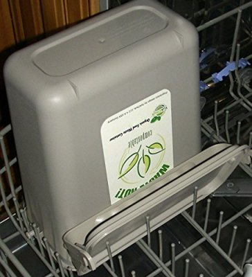 YukChuk Under Counter Kitchen Food Waste Compost Container Dishwasher Safe