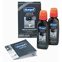 Durgol Swiss Espresso Special Decalcifier, 2-Pack 4.2 fluid ounce Bottles