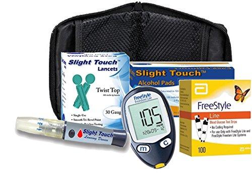 Freestyle Lite Diabetes Testing Kit - Meter + 100 Test ...