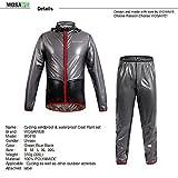 WOLFBIKE NEW Raincoat Rain Jacket Windproof Waterproof Cycling Raincoat, Gray, Size XL