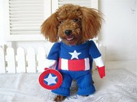 NACOCO(TM) Captain America Pet Costumes Dog Clothes Teddy