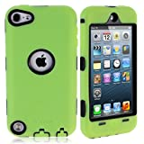 i-Blason ArmorBox Hybrid 3 Layer Defender Case with Built-In Screen Protector for iPod touch 5G (Green)