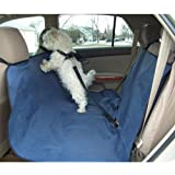 Flexzion Dog Bench Seat Cover Waterproof Pet Puppy Cat Hammock Blanket Travel Mat Safety Protector for Car SUV Trucks Vehicles Rear End Machine Washable in Blue