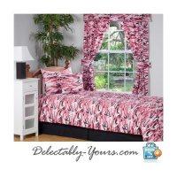 Pink Camo Chic Bedding 3 Pc Twin / XL Twin Comforter Set