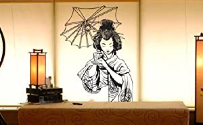 Amazon Vinyl Wall Art Decal Sticker Japanese Geisha