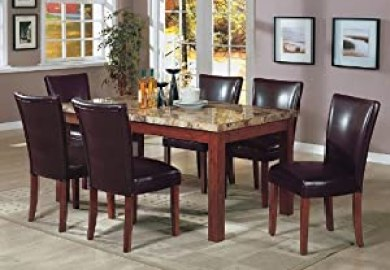 Amazon Marble Dining Table Set Home Kitchen