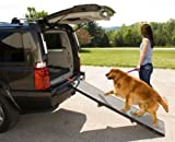 Pet Gear Tri-Fold Pet Ramp for cats and puppies up to 200-lbs, Grey