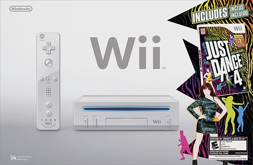 Nintendo Wii Just Dance 4 Bundle - White