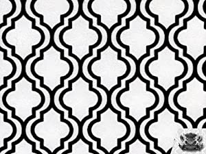 Amazon.com: Vinyl 2 Tone MILAN BLACK AND WHITE Upholstery