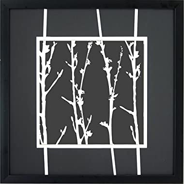 """Product Image White Branches A Wall Art - 16x16"""""""