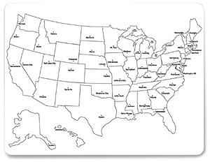 Amazon.com : ChenilleKraft Large USA Map Whiteboard