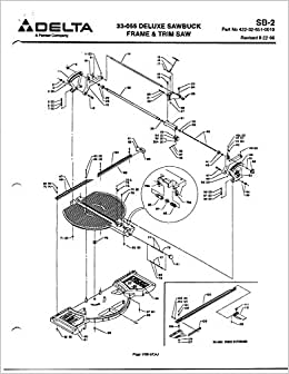 Delta Rockwell SB-2 33-055 Deluxe Sawbuck Instructions