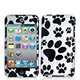 Dog Paw 2d Hard Snap-on Crystal Skin Case Cover Accessory for Ipod Touch 4th Generation 4g 4 8gb 32gb 64gb by Electromaster